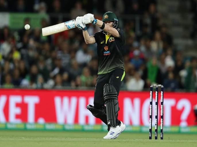 AUSvPAK: Steve Smith smash Pakistan bowler's, Australia won by 7 wicket   AUSvPAK : स्टीव्ह स्मिथची बॅट तळपली, पाकिस्ताननं शरणागती पत्करली