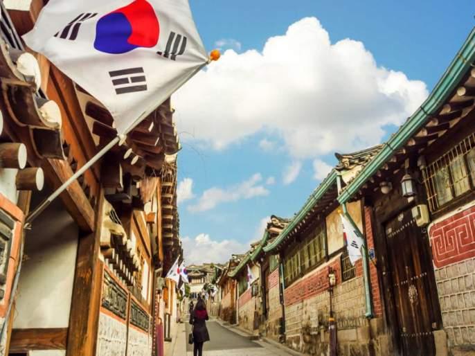 Phadkal tricolor in Pyongyechong   प्योंगच्योंगमध्ये फडकला तिरंगा