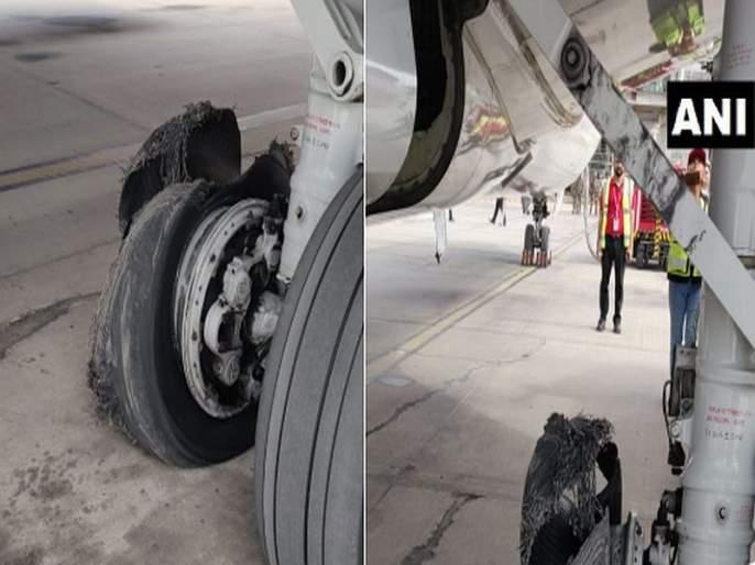 SpiceJet Flight From Dubai Lands Safely In Jaipur After Tyre Burst. Watch | SpiceJet विमानाचे इमर्जन्सी लँडिंग, टायर फुटला, सर्व प्रवासी सुरक्षित