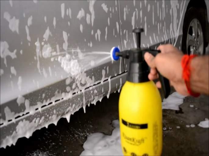 Wash the car yourself ... save the water and save money too | कार धुवा स्वतःची स्वतः... पाणीही वाचवा आणि पैसेही वाचवा