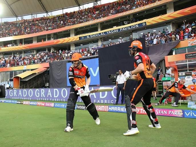 IPL 2019 : David Warner and Jonny Bairstow Most runs by an opening pair in a season (IPL) | IPL 2019 SRH vs KKR : वॉर्नर-बेअरस्टोची जोडी जमली, तीन वर्षांपूर्वीचा विक्रम मोडला