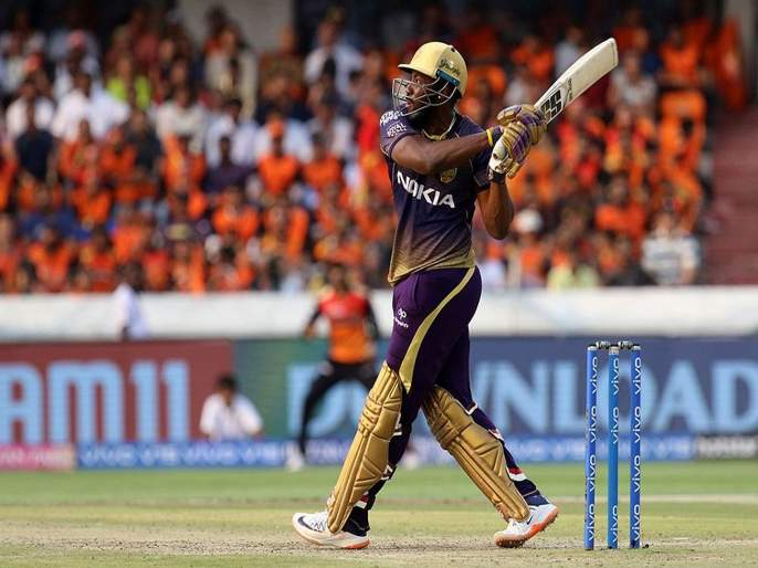 IPL 2019 : Andre Russell become a second Player after Chris Gayle hit 40+ Sixes in IPL Single edition | IPL 2019 : दोन षटकार तरीही आंद्रे रसेलचा विक्रम, गेलच्या 8 वर्षांपूर्वीच्या विक्रमाला धोका
