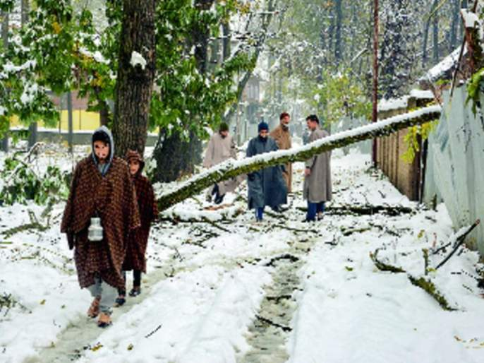 Temperature of Srinagar is below the freezing point | श्रीनगरचे तापमान गोठणबिंदूखाली