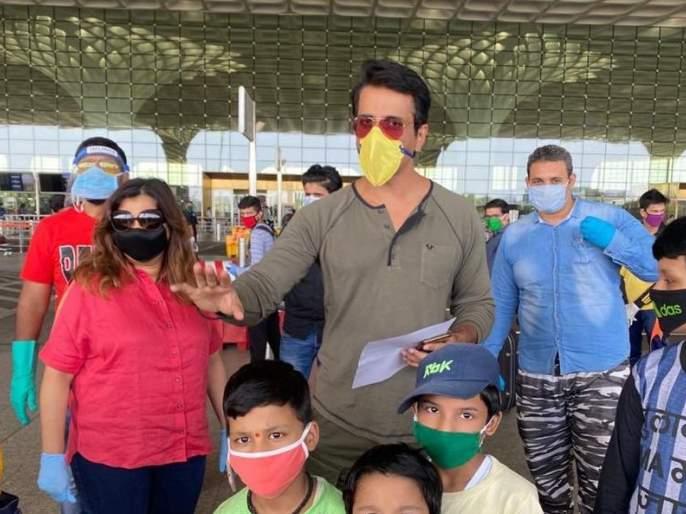 173 laborers sent to Dehradun by chartered plane! | 'सोनू' दा मुंडा... १७३ मजुरांना चार्टर्ड विमानाने पाठविले डेहराडूनला!