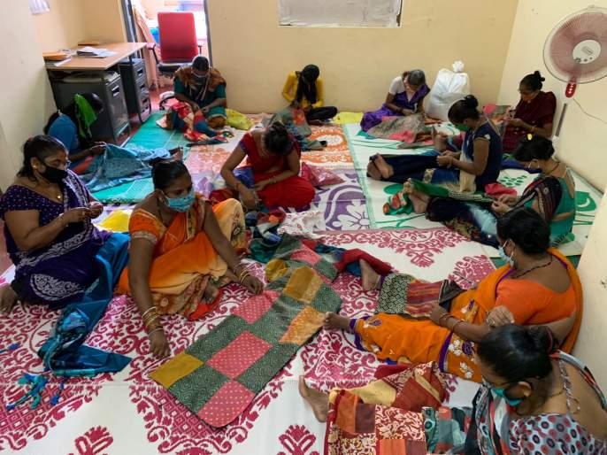 Old silk sarees, weaving a new life on clothes, an initiative of women in Goa | सिल्कच्या जुन्या साड्या, कपड्यांवर नवं जगणं विणणारा, गोव्यातील महिलांचा उपक्रम