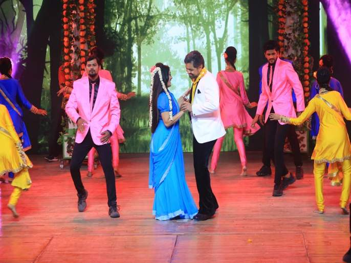 subodh bhave perform with Manasi naik in star pravah's din din diwali | सुबोध भावेला कुणी नाचवलं आपल्या तालावर?