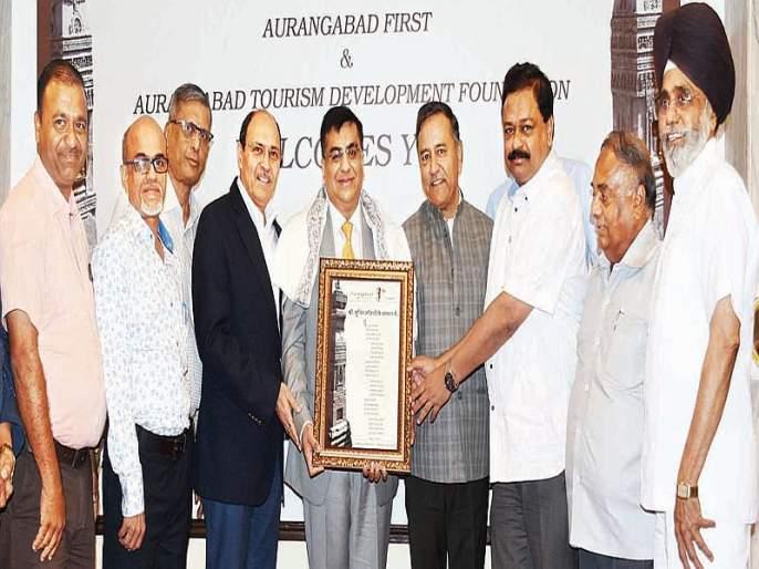 Aurangabad people honor Karmayogya - Sunit Kothari | औरंगाबादकरांनी केला कर्मयोग्याचा सत्कार- सुनीत कोठारी
