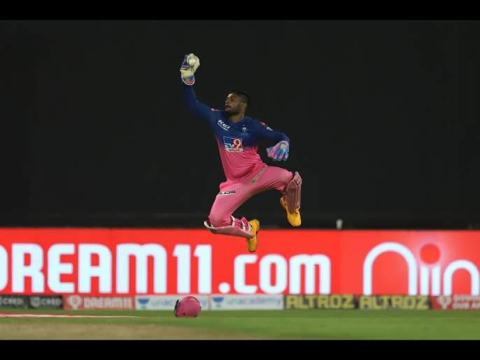CSK vs RR Latest News : Sanju Samson take Super Catch, CSK Kedar Jadhav out on 22, Watch Video | CSK vs RR Latest News : संजू सॅमसनची वादळी खेळी अनुभवली, पण हा सुपर कॅच पाहिलात का? Video