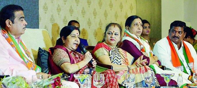 Sushma Swaraj's criticized: Congress manifesto pleasing anti-nationalists and separatists | काँग्रेसचे घोषणापत्र देशद्रोही व फुटीरवाद्यांना खूष करणारे : सुषमा स्वराज यांचे टीकास्त्र