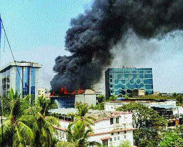 How about a fire in a closed company?   बंद कंपनीत आग लागलीच कशी?