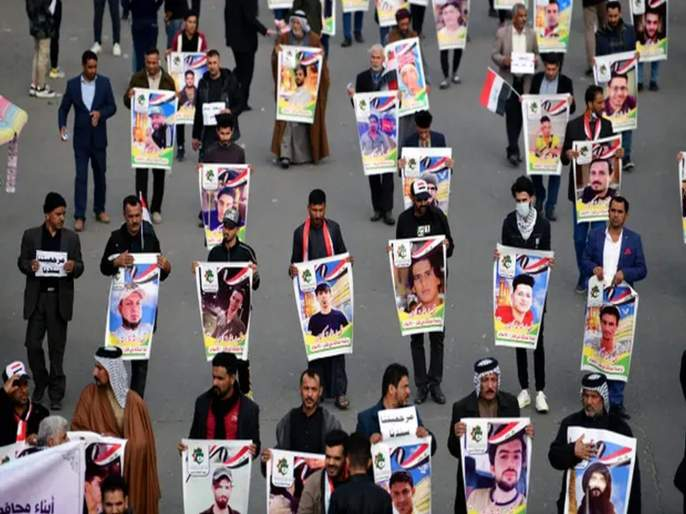 firing on protesters in Baghdad; 16 killed, 45 wounded | बगदादमध्ये आंदोलनकर्त्यांवर अज्ञातांचा गोळीबार; 16 ठार, 45 जखमी
