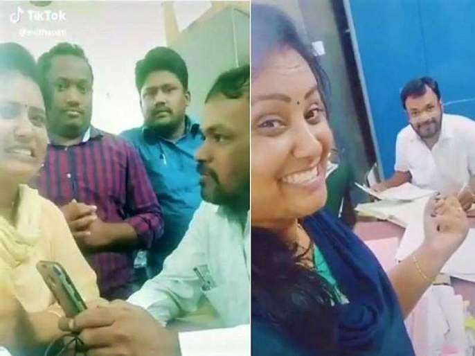 In the government office, Tiktok made a video viral, cut employees wages and transfer in telangana | सरकारी ऑफिसमध्येच Tiktok Video बनवला, कर्मचाऱ्यांची बदली अन् पगारही कापला