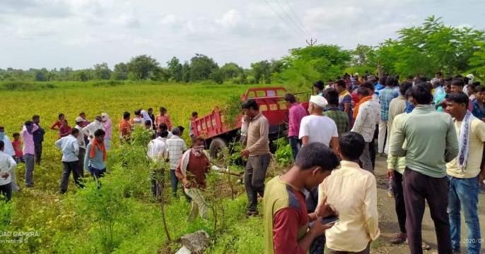 One killed in tractor accident; 16 injured   ट्रॅक्टर अपघातात एक ठार; १६ जखमी