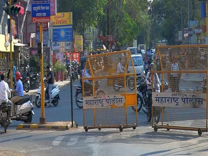 Tilakwadi Signal: Invite to Accidents in Barricades of Police | टिळकवाडी सिग्नल : पोलिसांचा खटाटोप;अपघातांना निमंत्रण