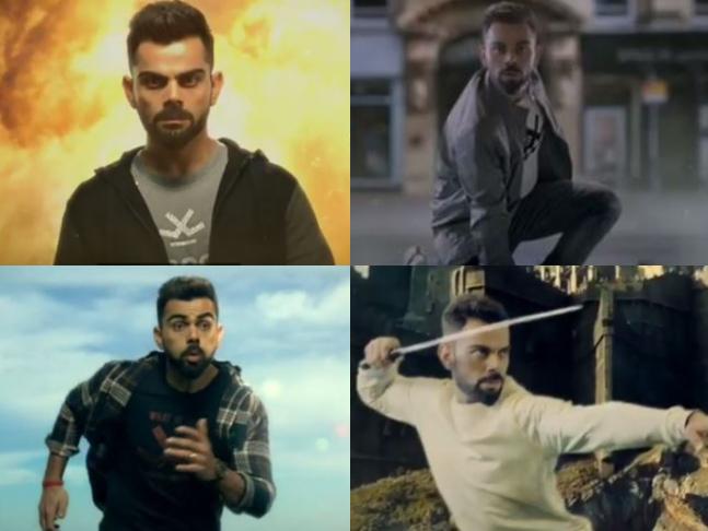 IPL 2018: Virat Kohli's acting video became viral | IPL 2018 : अनुष्कापेक्षा भारी अभिनय करतो विराट कोहली, व्हिडीओ झाला वायरल