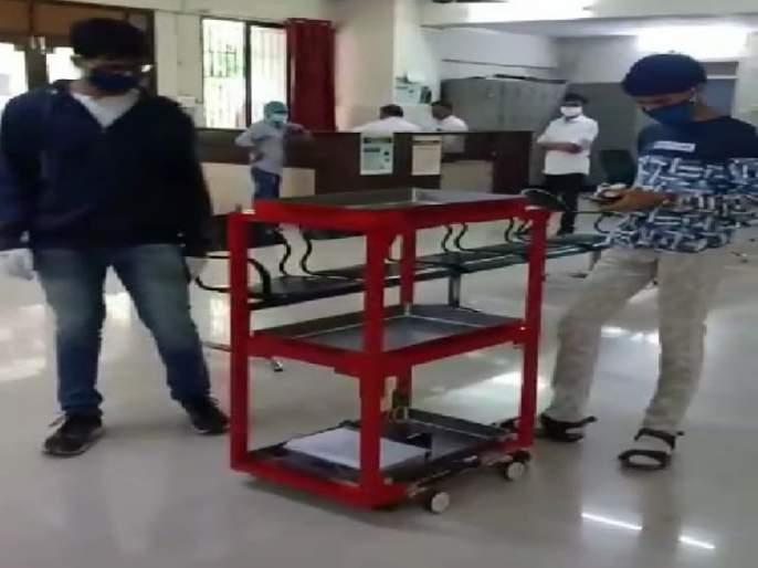 'Trolley Robot' is create for Corona Ward by Ninth class Student 'Idea' | नववीतील विद्यार्थ्याची 'आयडिया' कमाल, कोरोना वॉर्डसाठी बनविला 'ट्रॉली रोबोट' धम्माल