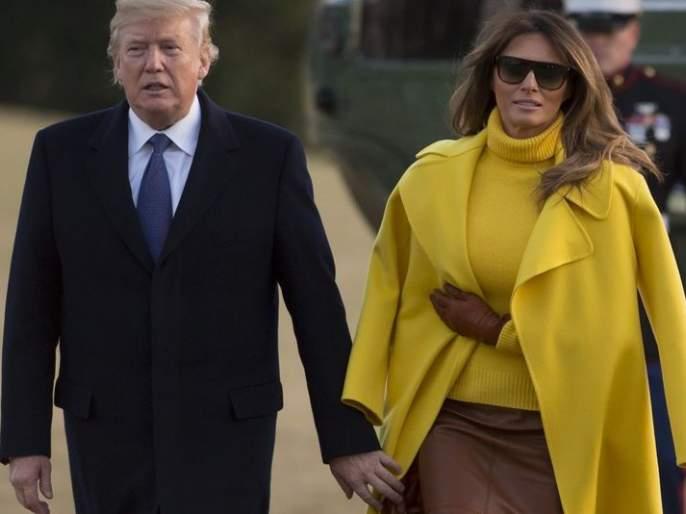 Donald Trump Awkwardly Attempts To Hold Melania Trump's Hand Again   Watch: मेलेनियामुळे पुन्हा एकदा डोनाल्ड ट्रम्प यांची सर्वांसमोर झाली नाचक्की