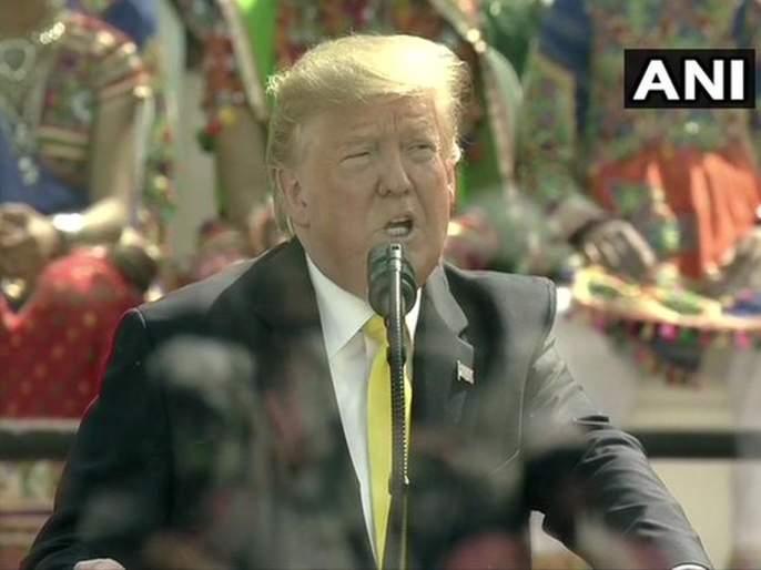 Donald Trump Visit: Donald Trump mentions Sachin, Virat and Bollywood in his speech | Donald Trump Visit: सचिन ते विराट अन् शोले ते डीडीएलजे; ट्रम्प यांची 'मोटेरा'वर 'बॅटिंग'