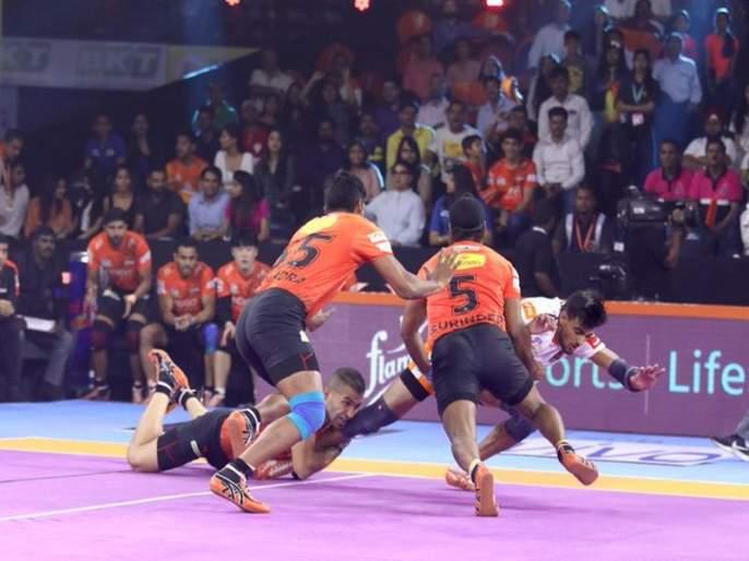 PKL 2019: U Mumba beat Puneri Paltan by 33-23 margin of first home match | PKL 2019 : यू मुंबाची घरच्या मैदानावर विजयी सलामी; महाराष्ट्रीय डर्बीत पुण्यावर मात