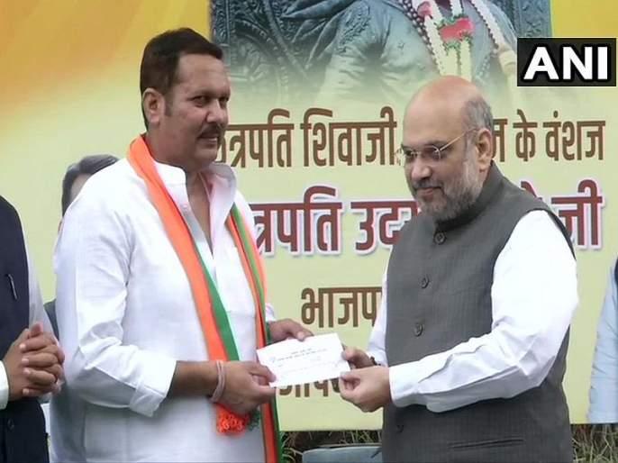 NCP MP Udayanraje Bhosale to join BJP in delhi | राष्ट्रवादीला मोठा धक्का, अखेर उदयनराजेंचा भाजपात प्रवेश