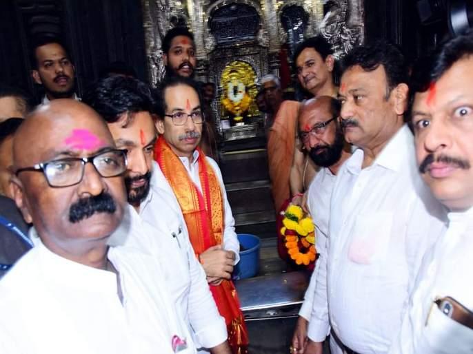 maharashtra cm uddhav thackeray at ambabai temple kolhapur | मुख्यमंत्री उद्धव ठाकरे कोल्हापुरातील अंबाबाई चरणी