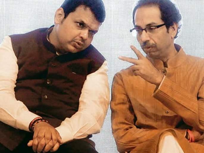 Sena-BJP on the chief minister's post, Khadkad | मुख्यमंत्रिपदावरून सेना-भाजप युतीत खदखद