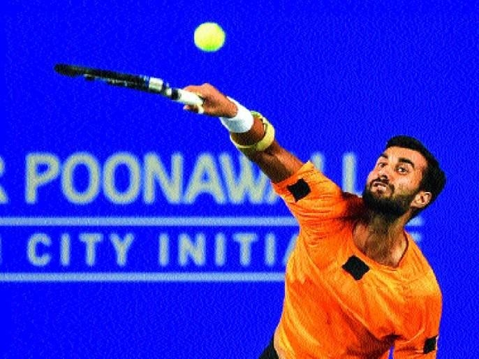 Tata Open Maharashtra Tennis: Yuki Bhambri reached the second round   टाटा ओपन महाराष्ट्र टेनिस : युकी भांब्रीचा दुस-या फेरीत प्रवेश