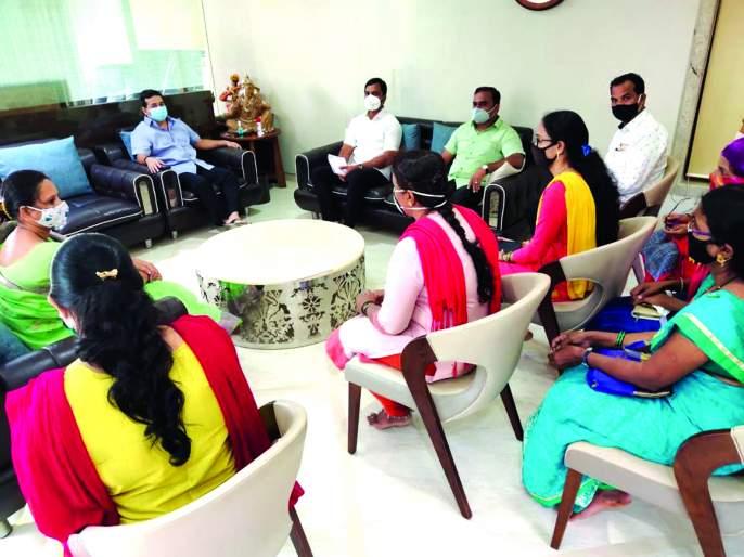Umed employees run to Nitesh Rane and ask for answers | उमेद कर्मचाऱ्यांची नीतेश राणेंकडे धाव,सरकारला जाब विचारणार