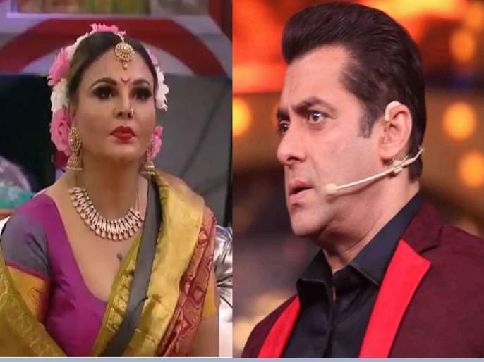 bigg boss 14 salman khan scolds rakhi sawant for her do baagh do bangle comment says ashleelta ki hudd par kar di | मर्यादा लांघू नकोस...! अन् सलमान खाननं राखी सावंतला झाप झाप झापलं