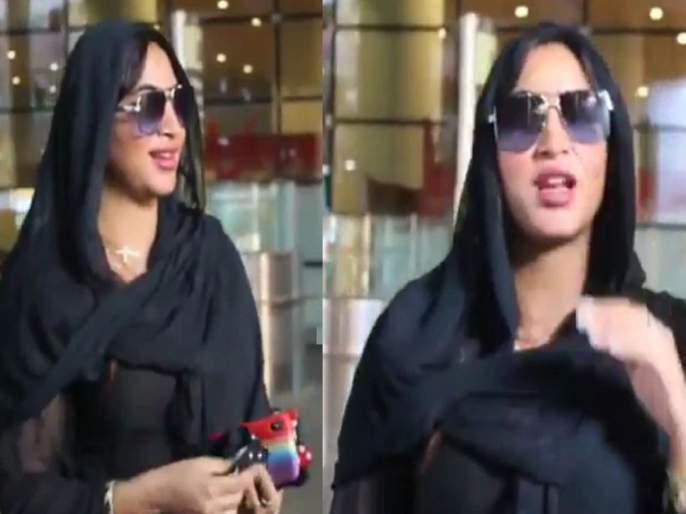 video arshi khan was shocked to kissed by a fan this is how actress reacted | तो सेल्फी काढायला आला अन् अर्शी खानला किस करून गेला! व्हिडीओ पाहून थक्क व्हाल