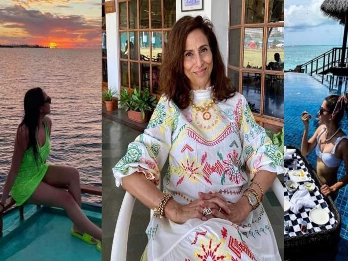 Shobhaa De slam celebs who celebrate vacation in maldives during pandemic | उपकार करा आणि फोटो स्वत:जवळ ठेवा! व्हॅकेशनचे बोल्ड फोटो शेअर करणाऱ्या सेलिब्रिटींवर भडकल्या शोभा डे