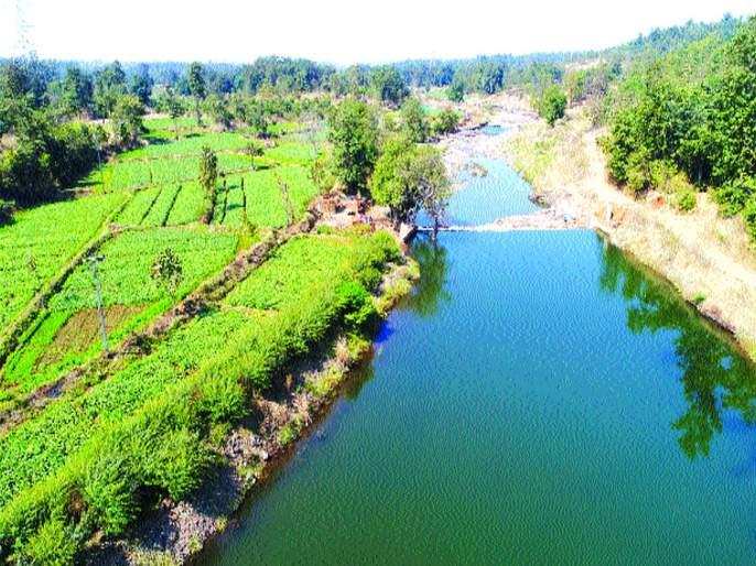 Built in 30 forestry dams in 28 days in the rural area of Murbad   मुरबाडमधील ग्रामीण भागात २८ दिवसांत बांधले ३० वनराई बंधारे