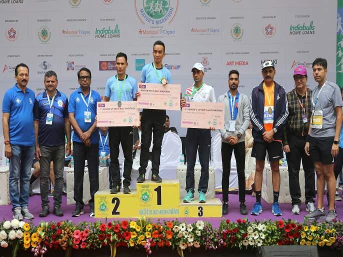 Vasai Virar Mayor Marathon: Mohit Rathore won full marathon, Anish Thapa broke record | वसई विरार महापौर मॅरेथॉन: मोहित राठोरची बाजी; अनिश थापानं मोडला पाच वर्षांपूर्वीचा विक्रम