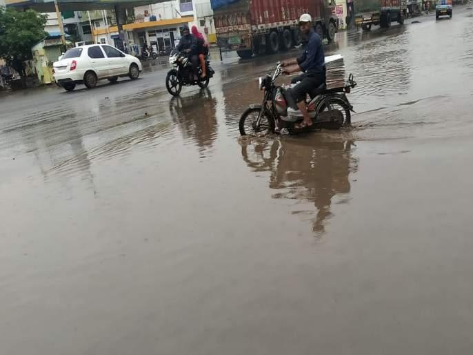 heavy rains in Pune again; Water flowed into several houses   Video : पावसाने पुणेकरांना पुन्हा झोडपले; अनेक घरात पाणी शिरले
