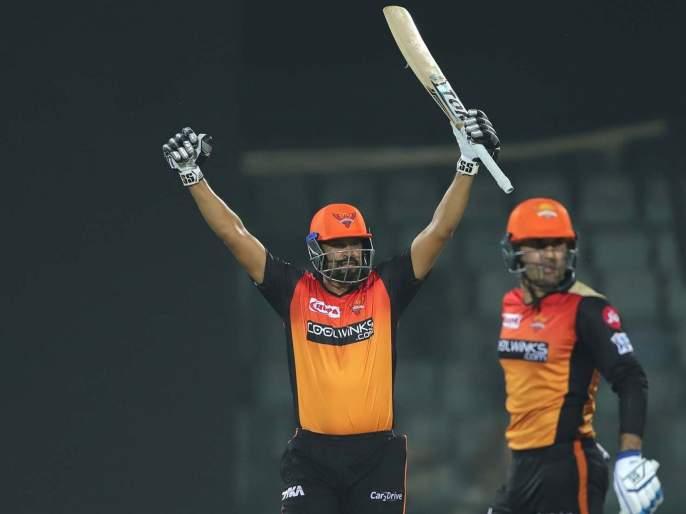 Ipl 2019 DCvsSRH : हैदराबादचा पाच विकेट्स राखून दिल्लीवर विजय   Ipl 2019 DCvsSRH : हैदराबादचा पाच विकेट्स राखून दिल्लीवर विजय