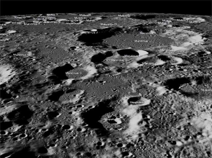 vikram had hard landing nasa releases high resolution images of chandrayaan 2   Chandrayaan-2 : 'विक्रम' चे चंद्रावर हार्ड लँडिंग; नासाने प्रसिद्ध केले फोटो