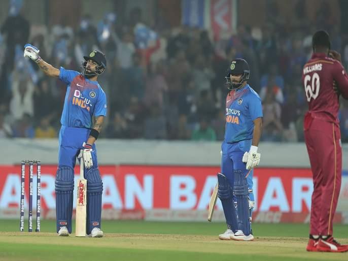 India vs West Indies : Windies captain kirron pollard react over virat celebration, Say Virat kohli is an animated character | India vs West Indies : विराट कोहली 'अॅनिमेटेड पात्र'; सेलिब्रेशनवर विंडीज खेळाडूची तिखट प्रतिक्रिया