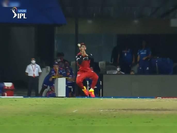 IPL 2021 Mi vs RCB Live T20 Score: Krunal Pandya hit dropped by Virat Kohli and hits RCB Captain on just below right eye | IPL 2021 : MI vs RCB T20 Live : काळजाचा ठोका चुकला, विराट कोहलीच्या डोळ्याच्या खाली चेंडूचा फटका बसला, Video
