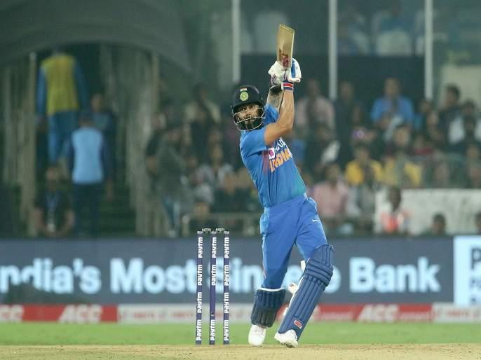 India vs West Indies, 2nd T20I : Virat kohli became a highest run scorer in T20I, surpass rohit sharma record | India vs West Indies, 2nd T20I : कॅप्टन कोहलीचा 'विराट' पराक्रम; ट्वेंटी-20त नोंदवला विश्वविक्रम