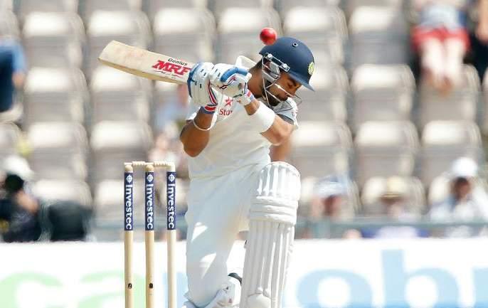 India vs West Indies, 1st Test: Virat Kohli says out on bouncer | India vs West Indies, 1st Test : बाऊन्सरला घाबरत नाही म्हणणारा कोहली उसळत्या चेंडूवरच आऊट झाला