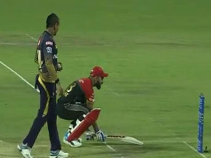 IPL 2019: WATCH: Virat Kohli's animated take on Sunil Narine's 'Mankad' attempt | IPL 2019 : विराट कोहलीची 'नौटंकी' पाहून व्हाल लोटपोट, Video