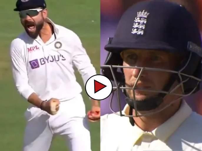 India vs England 3rd Test : Virat Kohli's Brett Lee-esque celebration to give Joe Root a fiery send-off in 3rd Test, Video   India vs England 3rd Test : जो रुट बाद होताच विराट कोहलीनं केलं भन्नाट सेलिब्रेशन; सोशल मीडियावर Video Viral