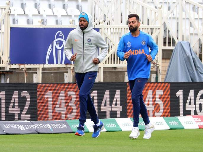 ICC World Cup 2019 : Indian dressing room in Trent Bridge, Watch Video | ICC World Cup 2019 : चला करूया टीम इंडियाच्या ड्रेसिंग रूमची सफर; हार्दिक पांड्याचा हा व्हिडीओ पाहाच!
