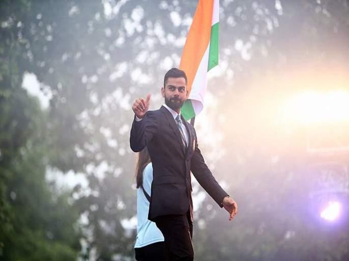ICC World Cup 2019 : Madame Tussauds unveils Virat Kohli's wax statue at Lord's   ICC World Cup 2019 : विराट कोहलीच्या शिरपेचात मानाचा तूरा!