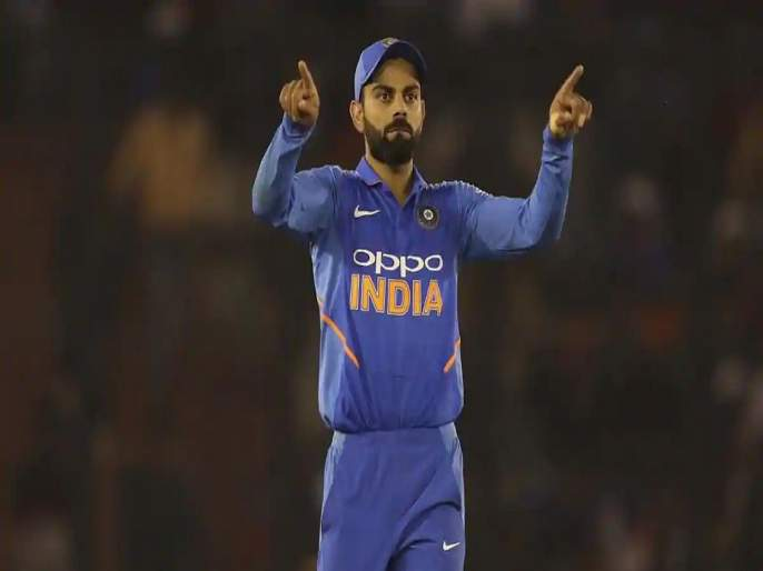 Virat Kohli refuses to brand India as favourites for 2019 ICC World Cup, says any team can beat anyone   भारतीय संघ वर्ल्ड कप जेतेपदाचा दावेदार नाही, विराट कोहलीची कबुली