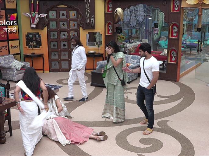 Shivani surve fell down in bigg boss marathi house | Bigg Boss Marathi 2: घरात अचानक चक्कर येऊन पडली शिवानी ?
