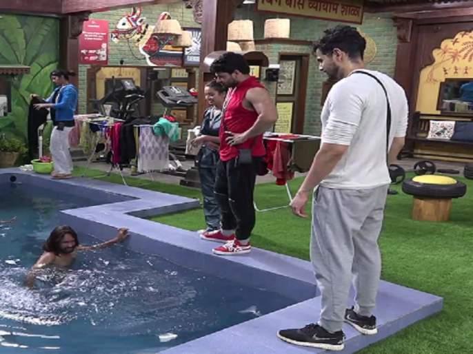 Bigg Boss Marathi 2: Neha Shitole punishes Abhijeet Bichukale | Bigg Boss Marathi 2 : बिचुकलेंना मिळाली पाण्यात उभं राहण्याची शिक्षा, हे आहे त्यामागचं कारण