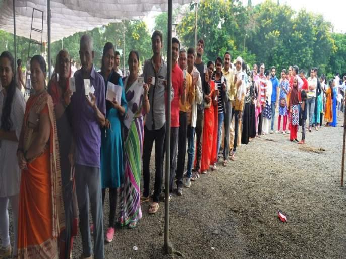 Nashik district polls: 60.13 percent Nifad has the highest percentage of 73.68% | Maharashtra Assembly Election 2019 नाशिकमध्ये ६०.१३ टक्के मतदान; निफाडला सर्वाधिक ७३.६८ टक्के