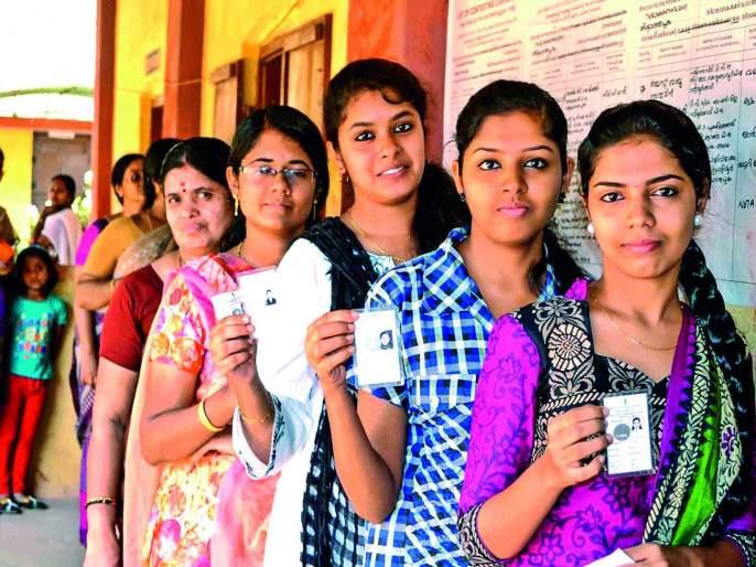 female voters are Breakthrough in Aurangabad lok sabha election 2019   औरंगाबादमध्ये नारीशक्तीचे मतदान १ लाख ७७ हजारांनी वाढले