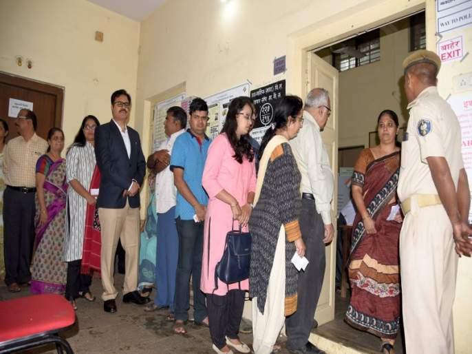 District polling still stands at 15.94 percent; Voting percentage at a glance | जिल्ह्यात अद्याप १५.९४ टक्के मतदान; मतदानाची टक्केवारी दृष्टिक्षेपात